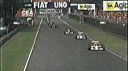 Derek Warwick massive shunt at the 1990 Italian GP