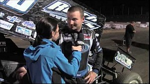 World of Outlaws STP Sprint Car Series Victory Lane from Antioch Speedway