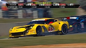 Porsche, Ferari, and Corvette Wreck on Pit Road - 2014 TUDOR Championship