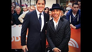 Behind the scenes at the TODAY show in New York - with Lewis Hamilton