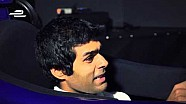 Karun Chandhok in the Mahindra Racing simulator