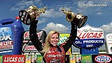 Courtney Force gets 100th pro win by a woman