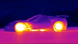 Tudor United Race Cars Light Up VIR in Infrared