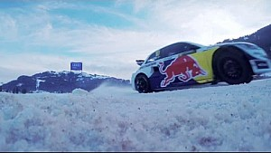 Driving a Rallycross Car on Ice