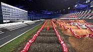 Mapa de pista animado -  Supercross de Daytona 2015