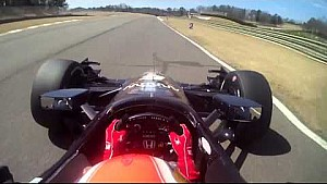 Onboard with James Hinchcliffe at Barber Motorsports Park