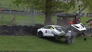 Blancpain Sprint Series Maxi Buhk huge crash at Brands Hatch