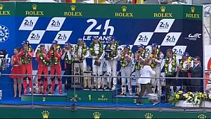 The 83rd Edition of the 24 Hours of Le Mans Podium - LMP1 Category.