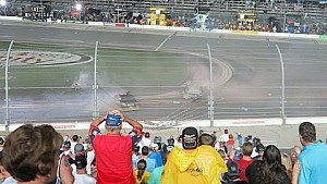 From the grandstand: Austin Dillon flies into the catchfence at Daytona
