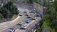 Tiago Monteiro crashes hard at the start of his home race in Vila Real