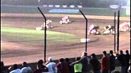 From the grandstand: World of Outlaw crash at Beaver Dam Raceway