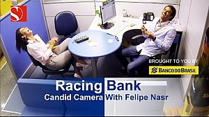 Candid Camera: Racing Bank with Felipe Nasr - Sauber F1 Team