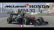 El McLaren-Honda MP4-30 en iRacing