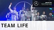 Mercedes-Benz track battles - Lewis & Nico at Stars & Cars 2015