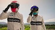 Les pilotes McLaren font la course avant la saison!