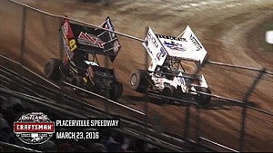 Highlights: World of Outlaws Craftsman Sprint Cars Placerville Speedway March 23rd, 2016