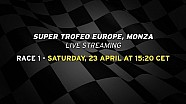 Lamborghini Super Trofeo Europe 2016, Monza - Live streaming Race 1