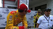 Kenseth has words with Logano