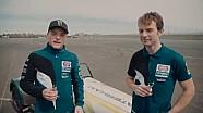 Alex Lowes et Sylvain Guintoli à Donington Park en Caterham