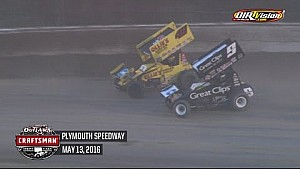 World of Outlaws Craftsman Sprint Cars Plymouth Speedway May 13th, 2016 | HIGHLIGHTS