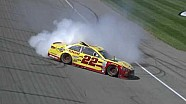 Logano's restart launches him to victory and epic burnout