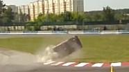 Друга аварія під час першого етапу ЧУ з кільцевих гонок - Чайка, Київ