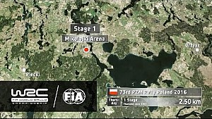 WRC - 73rd PZM Rally Poland 2016: Route Info/ 21 Stages