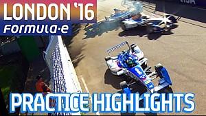 All-Action London 2016 Free Practice Highlights (Sun) - Formula E