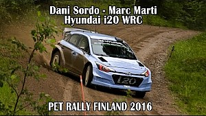 Dani Sordo - Marc Marti, Hyundai i20 WRC - PET Rally Finland 2016