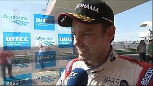 INTERVIEW - Tom Chilton wins the WTCC OPENING RACE in Argentina
