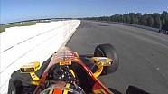 Ryan Hunter-Reay met 340 de muur in op Pocono Raceway