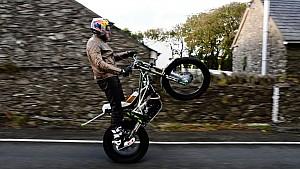 Dougie Lampkin Wheelies Entire Isle of Man TT Course - 37.7 Miles!
