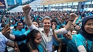 Rosberg celebra el título en Kuala Lumpur con Petronas
