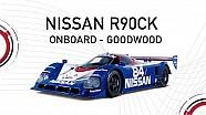 Max Chilton au volant de la Nissan R90CK à Goodwood