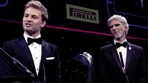 Rosberg Celebrations - Autosport Awards 2016