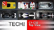 Evolution of Race Cars - TOP View - Sauber F1 Team