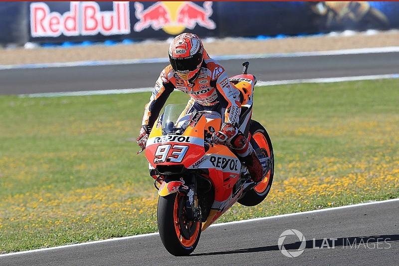 MotoGP Spanyol: Walau terjatuh, Marquez puncaki warm-up