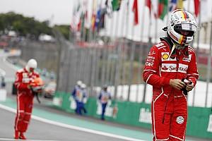Formel 1 Reaktion Vorsichtiger Sebastian Vettel verspielt Brasilien-Pole in erster Kurve