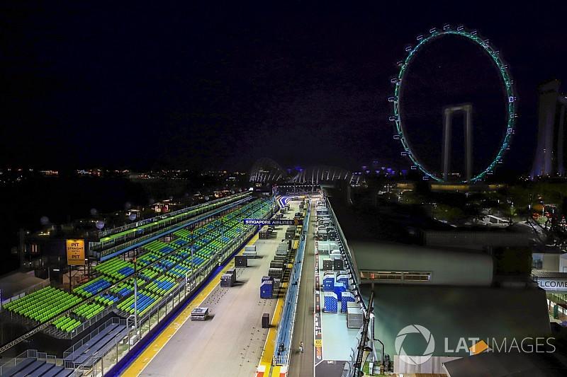 La longitud de la pista de Singapur, reducida en dos metros