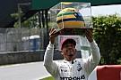 Hamilton ganha capacete de Senna ao igualar marca histórica