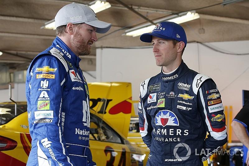 Kahne and Earnhardt lead final practice at Talladega