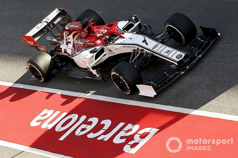 Alfa Romeo realizó su segundo día de filmación con Raikkonen en Barcelona