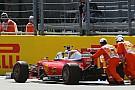 Ferrari de nuevo con problemas en el coche de Vettel