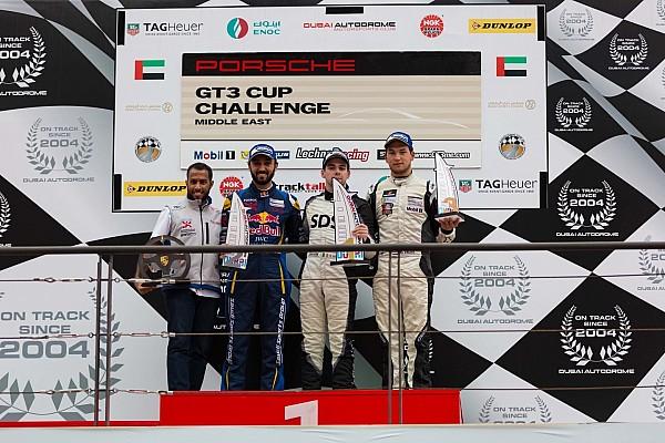 فوزٌ مفاجئٌ لكولين في السباق الأول للجولة الرابعة من تحدي بورشه جي تي 3 الشرق الأوسط في دبي