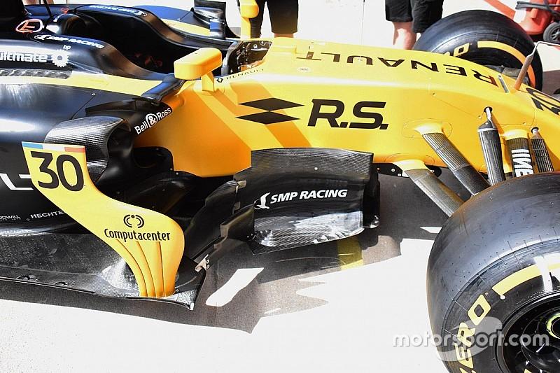 Renault: nuovo bargeboard con quattro deviatori di flusso