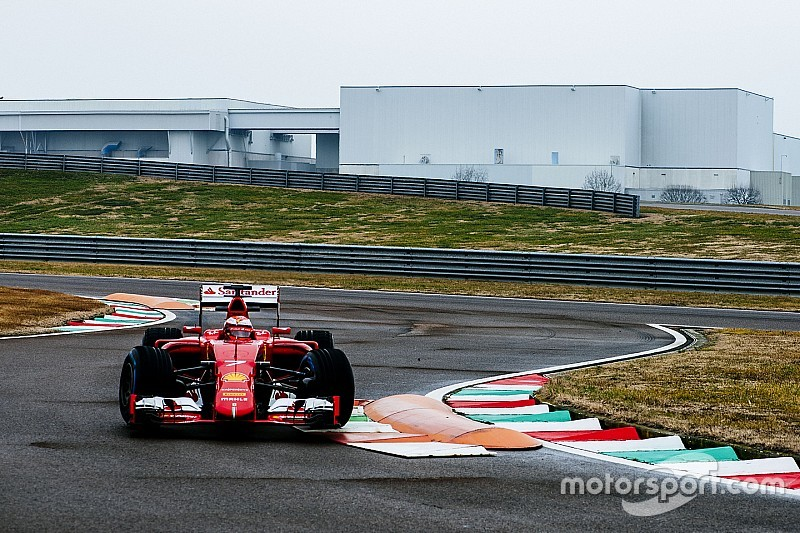 Raikkonen giró con un Ferrari 2015 en Fiorano