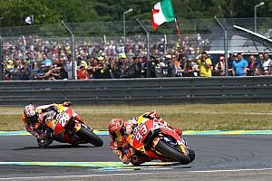 MotoGP Noticias de última hora Márquez cree que la carcasa blanda es el elemento que le ha hecho sufrir más que Pedrosa