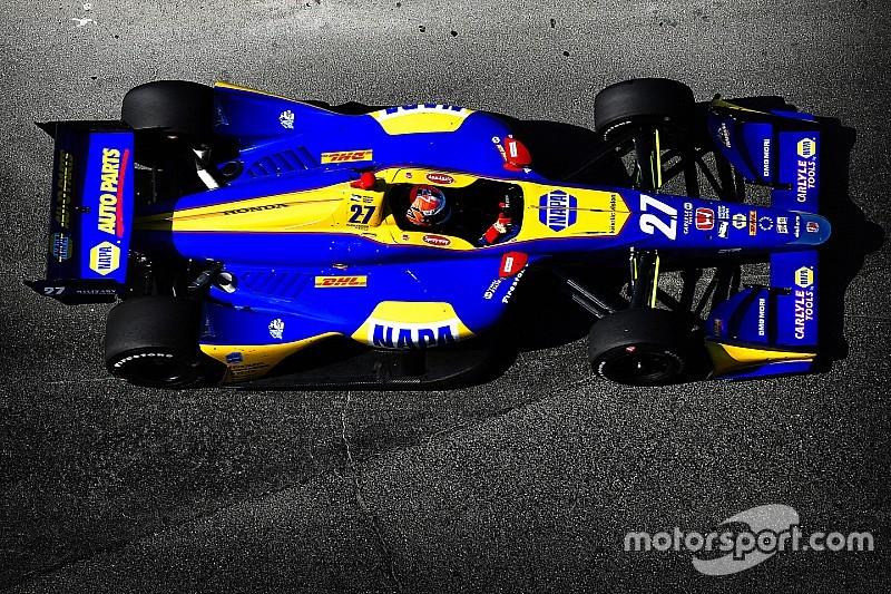 Gateway IndyCar: Rossi leads rain-interrupted first practice