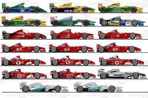 【生誕50周年記念】ミハエル・シューマッハー、F1愛車20台をイラストで振り返る