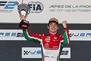 FIA F2 Ultime notizie Leclerc dedica il titolo di Formula 2 al padre recentemente scomparso
